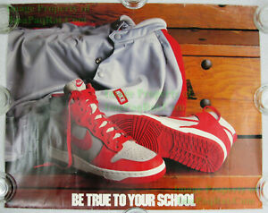 1985 NIKE Dunk Basketball Poster Be True To Your School UNLV Runnin Rebels BTTYS