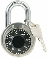"BRAND NEW- Key Controlled Steel Padlock With Combination 17/8""-GREAT FOR LOCKERS"