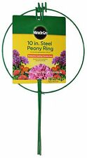 "MIRACLE-GRO 10"" STEEL PEONY RING 18"" Legs PROTECTIVE COATING Rust Resistant NEW!"