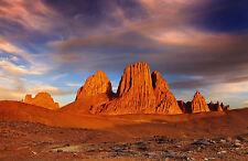 Lámina-Atardecer En La Hoggar Montañas Desierto Del Sahara (imagen Sunrise Arte