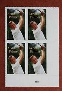 US Scott  # 5455 Plate Block of 4  Arnold Palmer forever stamps  2020