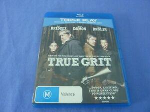 True Grit Blu-ray +DVD Jeff Bridges Matt Damon Josh Brolin Free Postage