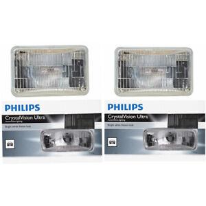 2 pc Philips H4666CVC1 CrystalVision Headlight Bulbs for 28157 Electrical je
