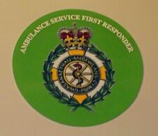 Ambulance Service First Responder Wales vinyl sticker.