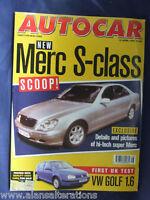 AUTOCAR Magazine 15th April 1998 Mercedes S-Class
