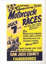 "San Jose AMA 25 Mile flat track REPRO 9"" X 12"" race poster"