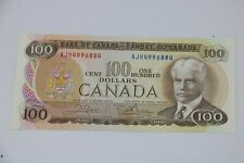 1975 Bank of Canada $100 Dollar Banknote Canadian Note AJH Prefix BC52b