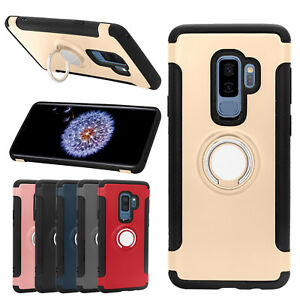For Samsung S9 Plus Case Phone TPU Rubber Case Skin Cover With Ring Stand Holder