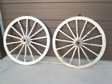 """2 Matching Horse Drawn Wagon Wheels 50"""" Carriage Buggy"""