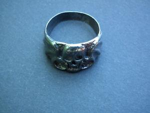 Skull-Bat Wing Men's Ring US Size 12.25