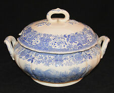 VILLEROY & BOCH SOUP TUREEN & LID BURGENLAND BLUE BACKSTAMP IS BLUE