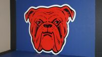 "Vintage RED DOG Advertising Wall Bar Beer USA Sign 17"" by 20""  - NICE!"