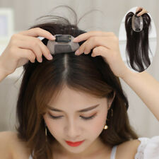 Women Straight Silk Virgin Human Hair Topper Hairpiece Mono Toupee Free Part