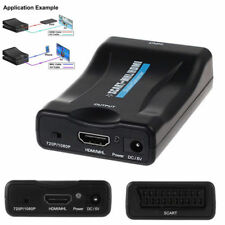 Scart to HDMI 1080P TV PAL/NTSC Video Konverter Adapterbox Outputbox + USB Kabel