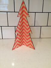 Urban Outfitters Pink Coral Wooden Christmas Tree