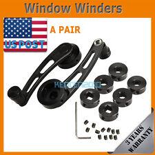 2Pcs Universal Aluminum Alloy Car Window Handle Winder Riser Winder Crank Riser
