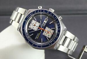 Seiko Kakume Chronograph Speed-Timer 6138-0030 Watch. Eng/Kanji Date. JDM