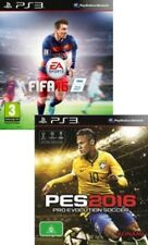 Fifa 16 and Pro Evolution Soccer 2016 PES 16 PS3 New