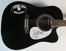 JERRY JEFF WALKER Signed Autograph Guitar