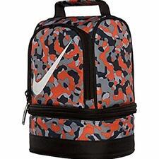 NWT NEW NIKE KIDS BOY/GIRL ORG CAMO DOME INSULATED SCHOOL 2-COMP LUNCH BOX  BAG