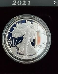 2021 $1 AMERICAN SILVER EAGLE 1 OZ TYPE 2 PROOF $1 IN HAND **SOLD OUT**
