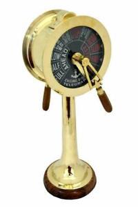 Telegraph Brass Maritime Desk Telegraph Nautical 14 Inch Ship Engine Room Gift