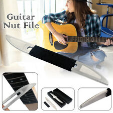 Guitar Bass Gauged Nut Slotting File Double Sided Nut Dart File Luthier Tool+Box