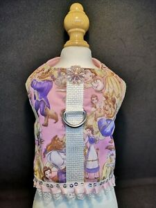 Designer Dog Harness Chihuahua, Beauty and the Beast design, assorted sizes.