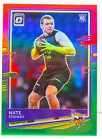 Nate Stanley RC 2020 Donruss Optic Christmas Red & Green PRIZM Rookie Card P-300