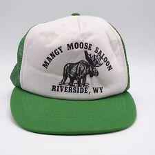 Mangy Moose Saloon VTG Trucker hat Snapback foam front Mesh back Riverside WY