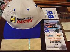 kenny wallace signed Square Cap Phoenix dura lube 500 1999 Sponsor package