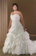 Taffeta Plus Size Sleeveless Wedding Dresses