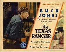 THE TEXAS RANGER Movie POSTER 22x28 Half Sheet Buck Jones Carmelita Geraghty
