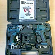 Erbauer Impact Driver ERI604IPD & ERI744COM 18V Combi Drill *BOXED*