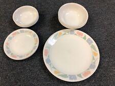 Corelle FRIENDSHIP Set~16 Pieces~Dinner & Bread Plates, Cereal & Fruit Bowls