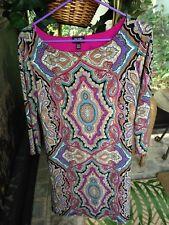 Nicole Miller S Paisley 3/4 Sleeve Sheath Dress