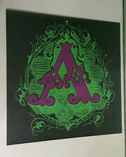 "Pandora Productions Original Vintage Black Light Poster ""A"" letter A minted font"
