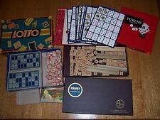 "3 Old Board Games MB CO ""Lotto"" Game No 4370 PO-KE-NO SCRABBLE L@@k Collect"