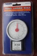 Maxim branded analogue travel luggage scales max 32kg with 1020mm tape measure