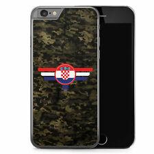 iPhone 6 6s Hard Case Hülle - Hrvatska Kroatien Camouflage Motiv Design Militär