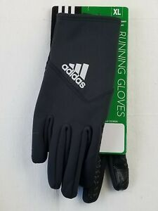 NEW Unisex Adidas Touch Screen Enabled Running Gloves Black Size XL CLIMAWARM