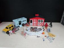 Toy Quest Country Life Farm Play Set Red Barn Truck Trailer Horses Fence