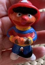Ernie The Muppet #1 Fireman Pvc Figure Rare Vintage