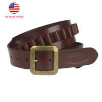 Tourbon Handmade .38/9mm Bullets Leather Ammunition Carrier Western Handgun Belt