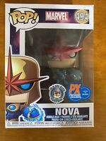 Funko Pop! Marvel - Nova (Metallic) Vinyl Figure Ox Preview Exclusive Custom