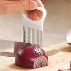 Easy Onion Holder Slicer Vegetable Tool Tomato Cutter Stainless Steel Kitchen NE