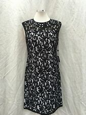 ADRIANNA PAPELL /SIZE 16/ BLUE/RETAIL$160/ /NORDSTORM DRESS/BLACK/WHITE