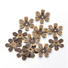39pcs/10g Iron Flower Bead Caps 6 Petal Nickel Free Antique Bronze Findings 16mm