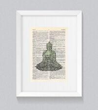 DIZIONARIO Buddista Disegno Vintage LIBRO Stampa Wall Art