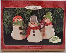Hallmark Keepsake Snowman of Mitford Set of 3 1999 QXI8587  NIB